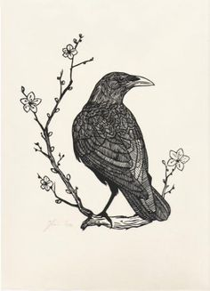 crow woodcut - Google Search
