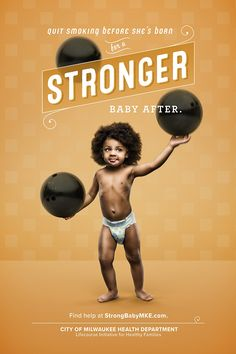Serve Marketing's ads fight back against the infant mortality crisis—with strong babies.