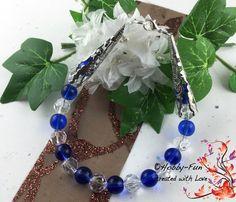 """Armband """" Blaue Schönheit"""" #1228 von Hobby-Fun/kreative Schmuckideen auf DaWanda.com"""