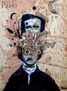 Collage de Edgar Allan Poe