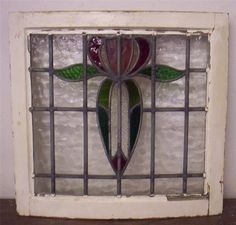 OLD English Leaded Stained Glass Window Very Unusual Curved Frame Architectural | eBay