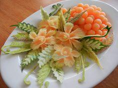 Orchid Fruit Platter (carved melon)