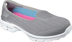 Skechers Performance Women's Go Walk 3 Insight Slip-On Walking Shoe, Gray, 6 M US - http://all-shoes-online.com/skechers-3/6-b-m-us-skechers-performance-womens-go-walk-3-slip-23