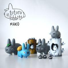 Kidrobot Totoro-Labbit-Sets-By-Graymako