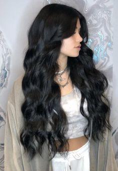 Wavy Hair, New Hair, Hair Inspo, Hair Inspiration, Black Hair Aesthetic, Coiffure Hair, Long Dark Hair, Dream Hair, Pretty Hairstyles