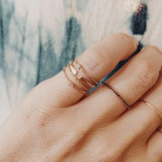 Dainty jewelry, dainty rings, gold rings, delicate ring, stacking rings