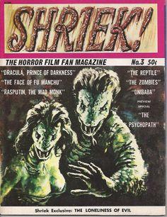 Shriek Horror Monster Magazine Summer 1966 No. 3 by worldvintage