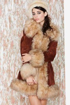 Vintage Dianna Leather Coat