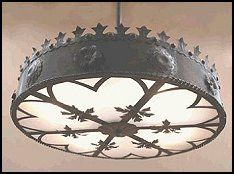 Perfect for the lair. Mission...reproduce design for ceiling mounted fixtures. Hand-crafted Italian Medieval reproduction chandelier. This tin reproduction was inspired by an identical brass original imported from Italy by the famous Baker Hotel in Mineral Wells, TX. - medieval bedroom decorating ideas -