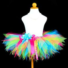 Girls Special Birthday Rainbow Tutu Skirt -- Present idea... not sure for who but just in case!