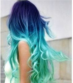 ombre blue hair | Ombre Hair Inspiration