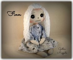 Gothic Horror, Gothic Art, Handmade Dolls Patterns, Gothic Dolls, Quirky Gifts, Sister Gifts, Make And Sell, Textile Art, Unique Art