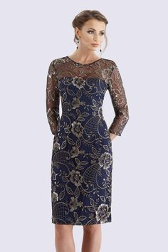 - Mother of the Bride Dresses - Feriani Couture 18717 Spring 2018 Evening Collection dress. Lace Sheath Dress, Bodycon Dress, Mother Of Groom Dresses, Different Dresses, Designer Gowns, Dress Collection, Evening Dresses, Party Dress, Short Dresses
