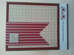 valentine's day card for husband or boyfriend. stamps by stampin' up