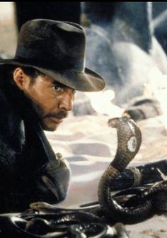 """Indiana Jones in """"The Temple of Doom"""" scene in the snake pit."""