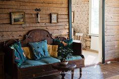 Dark turquoise + antique furniture BEAUTIFUL! !!!!