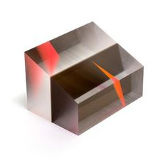 Orange, Pink, Smoky Grey and Clear Acrylic Prism by Phillip Low