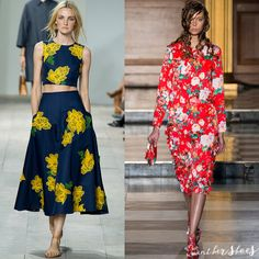 One of our favorite looks for #spring --> #florals #fashion #fashiontrends #runway #style #springfashion #dress #flowers #bridal #brides #chanel #marni #miumiu