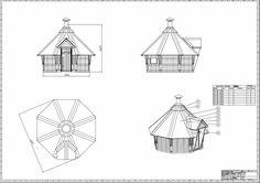 3,5m Bauplan Kota Grillkota Grillhütte  Anleitung Bauanleitung Holz  in Heimwerker, Gebäudebausätze, Sonstige | eBay!