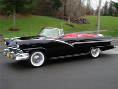 specialcar: Ford Fairlane Sunliner 1956 Classic and antique cars. Sometimes custom cars but mostly classic/vintage stock vehicles. Ford Fairlane, Retro Cars, Vintage Cars, Antique Cars, Vintage Paper, American Classic Cars, Ford Classic Cars, Ford Motor Company, Muscle Cars
