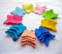 Felt Butterflies Shapes SMALL   Set of 36 by LadybugOnChamomile, $3.99
