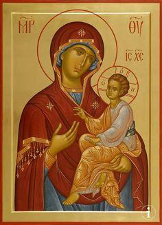 Byzantine Icons, Byzantine Art, Religious Icons, Religious Art, Russian Icons, Religious Paintings, Orthodox Christianity, Holy Mary, Madonna And Child