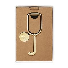 LIMITED EDITION ALPHABET KEY RING J: GOLD