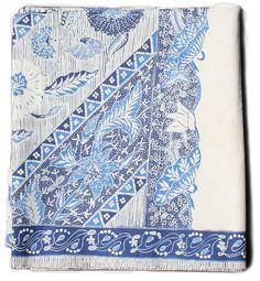 Kain Sarung Batik Tulis - Fibercopia- Chosen by Veranda s Carolyn  Englefield Blue And White Fabric 031eff56c9