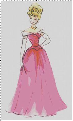 Disney Designer Princess Doll Aurora (Sleeping Beauty) Cross Stitch Pattern PDF (Pattern Only & My finished Halloween pillowcase design | Disney Cross Stitch ... pillowsntoast.com