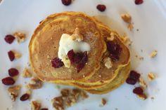 Pumpkin Pancakes!  Perfect for a weekend Autumn Breakfast