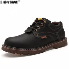 Full Grain Leather Men Lace-Up ankle Boots