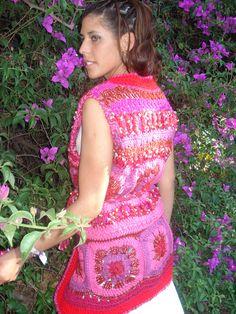 Chaleco Crochet Mix de Lanas y Colores | Flickr - Photo Sharing!