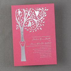 Unique tree wedding invitations Carving - Invitation - Fuchsia Shimmer Carving - Invitation - Fuchsia Shimmer Item Number:WA30948FLFUS $231.90 Per 100