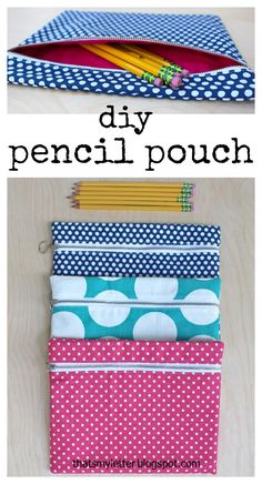 """That's My Letter: """"F"""" is for Flat Pencil Pouch, diy zipper pencil pouch"""