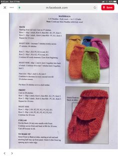 Knitting Patterns For Dogs, Crochet Dog Sweater Free Pattern, Knit Dog Sweater, Dog Clothes Patterns, Dog Pattern, Knit Patterns, Small Dog Coats, Small Dog Sweaters, Pet Coats
