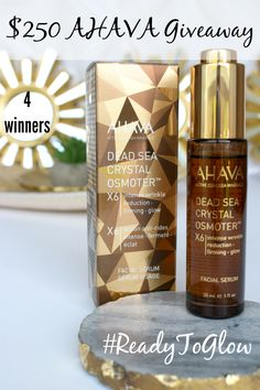 HOT! .............. $250 Giveaway, Review: AHAVA Dead Sea Crystal Osmoter™ X6 Facial Serum