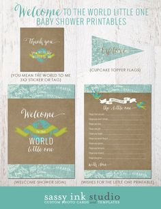 Welcome to the World Little One Baby Shower Printables #welcometotheworld #babyshower #welcometotheworldlittleone