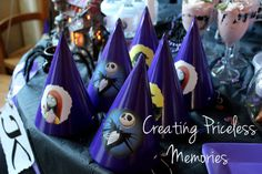 Maisa R's Birthday / Nightmare Before Christmas - Photo Gallery at Catch My Party Christmas Birthday Party, 9th Birthday Parties, Third Birthday, Halloween Party, Birthday Ideas, Jack Skellington, Nightmare Before Christmas Wedding, Birthday Design, Paper Boxes
