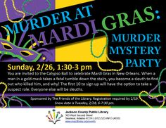 Join us for this Murder Mystery Party at the Seymour Library!