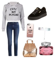 """""""Omw"""" by alyshakay on Polyvore featuring Calvin Klein, Puma, Casetify, Accessorize and Gucci"""