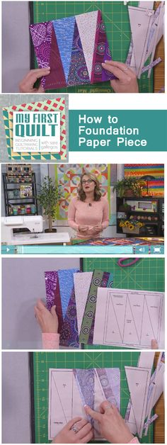 Watch and learn foundation paper piecing from Sarah Gallegos in this FREE video on QNNtv>>