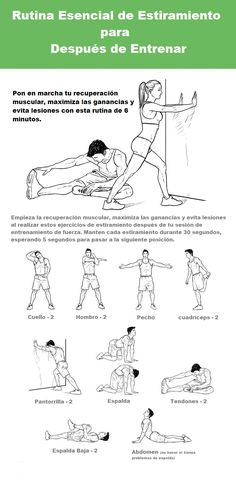 estiramiento para después del ejercicio