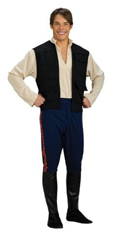 Our deluxe Han Solo adult costume is from the original Star Wars movies. This deluxe Star Wars costume makes a great Halloween costume for men. Join Chewbacca and Leia for a great group costume.