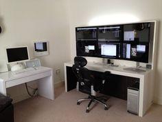 "Photo of Adam Matthews' desk: My New 6 X 27"" Desk."