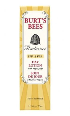 Burt's Bees Radiance Day Lotion. It actually works like the package says it will...imagine that!
