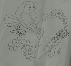 Zardozi Embroidery, Shirt Embroidery, Silk Ribbon Embroidery, Embroidery Stitches, Machine Embroidery, Hand Embroidery Patterns Flowers, Hand Embroidery Designs, Aluminum Foil Art, Valentines Day Coloring