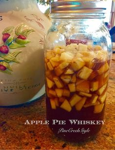 Infused Whiskey that tastes as good as it sounds. I love using this for sipping whiskey, a splash in my coffee and so . Homemade Alcohol, Homemade Liquor, Homemade Whiskey, Homemade Liqueur Recipes, Whiskey Recipes, Alcohol Drink Recipes, Apple Whiskey, Apple Pie Whiskey Recipe, Apple Pie Moonshine Recipe With Apples