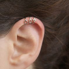 A Set Of Three Tiny Silver Urban Earrings. This Is Cool Edgy Fashion That Is Still Dainty. ❤ ❤ ❤ ❤ ❤ ❤ ❤ ❤ ❤ ❤ ❤ A Unique Jewelry Gift For Her Or Just