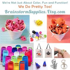 #Beautiful Rose Petal Tassels!  They're new and so pretty!  We have twisted tassels too!  Stop by the shop and check out all the crafty fun!  #craftsupplies #brainstormsupplies #tassels #charms #diy #crafty