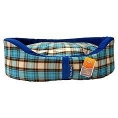 Cama Europa Xadrez Azul, Laranja E Branco São Pet - MeuAmigoPet.com.br #petshop #cachorro #cão #meuamigopet